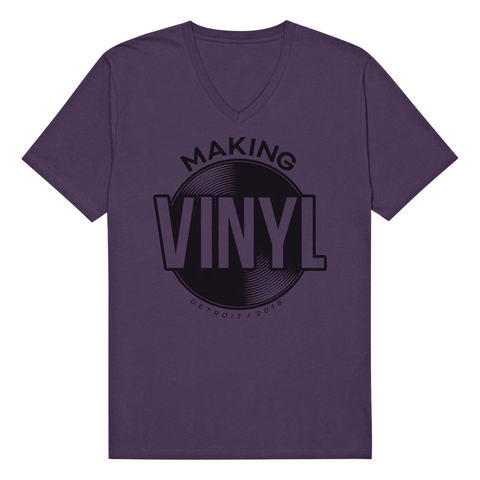 Making Vinyl Detroit 2018 V-Neck Tee (Purple)