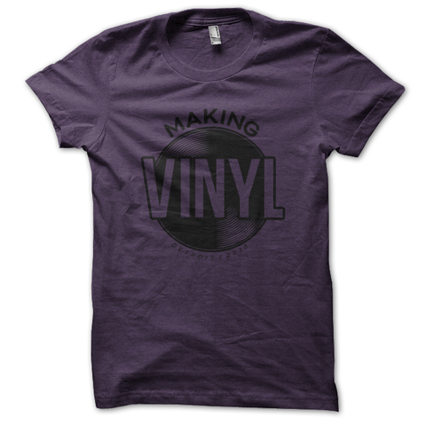 Making Vinyl Detroit 2018 Tee (Heather Purple)
