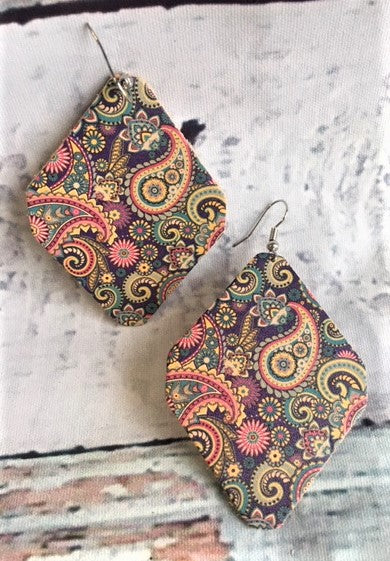 Floral Paisley Diamond Earrings
