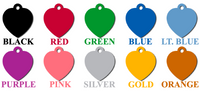 ID Tags - Hearts Shape