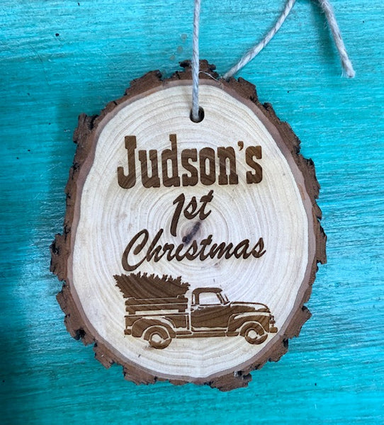 Cedar Wood Personlized Christmas Ornaments