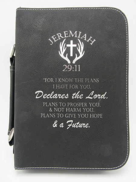 Bible/Book Cover with Handle & Zipper - 2 Sizes Available