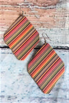 Multi-Colored Leatherette Earrings