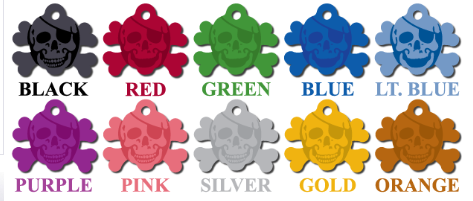 ID Tags - Skull & Crossbones