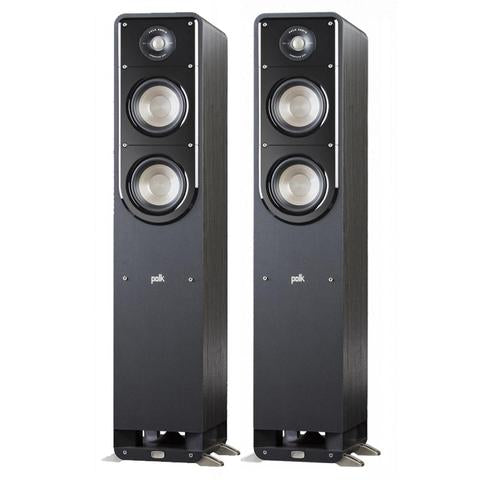 Yamaha RS202 Amplfier Bluetooth Receiver + Polk Audio S50 Tower Speakers + DSW PRO440 Subwoofer - 2.1 Stereo Music System # AM201033 - Best Home Theatre Systems - Audiomaxx India