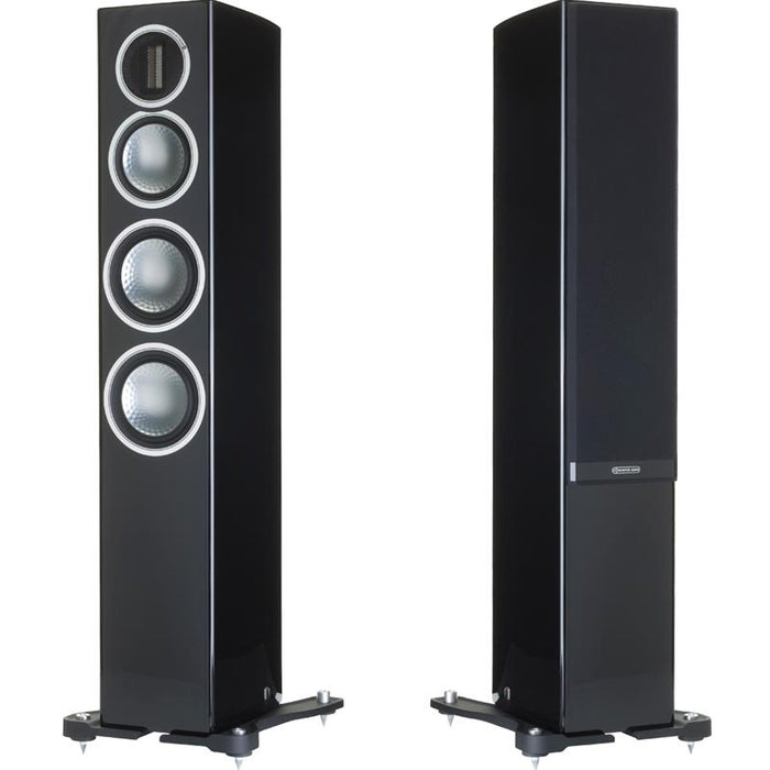 Monitor Audio Gold 200 Tower Speakers Pair 150w x 2 - Black - Best Home Theatre Systems - Audiomaxx India