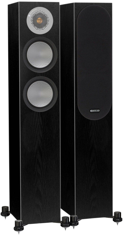 Monitor Audio Silver 200 Tower Speaker - High Gloss Black (Pair) - Best Home Theatre Systems - Audiomaxx India