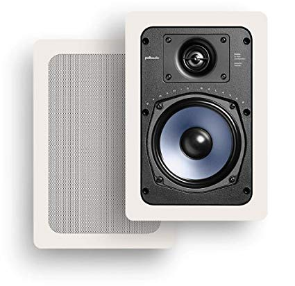 Polk Audio RC-55i In-Wall / In Ceiling 2Way 100w Speaker With Paintable Grill - Pair - Best Home Theatre Systems - Audiomaxx India