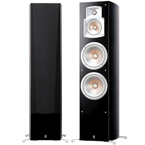 Yamaha NS-777 Tower Speaker Pair - Black - Best Home Theatre Systems - Audiomaxx India