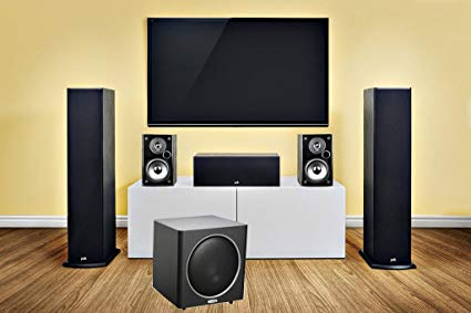 Polk Audio Fusion T50 Tower Set With 10 Inch Powered Subwoofer - Dolby 5.1 Surround Sound Speaker Package # SP017 - Best Home Theatre Systems - Audiomaxx India