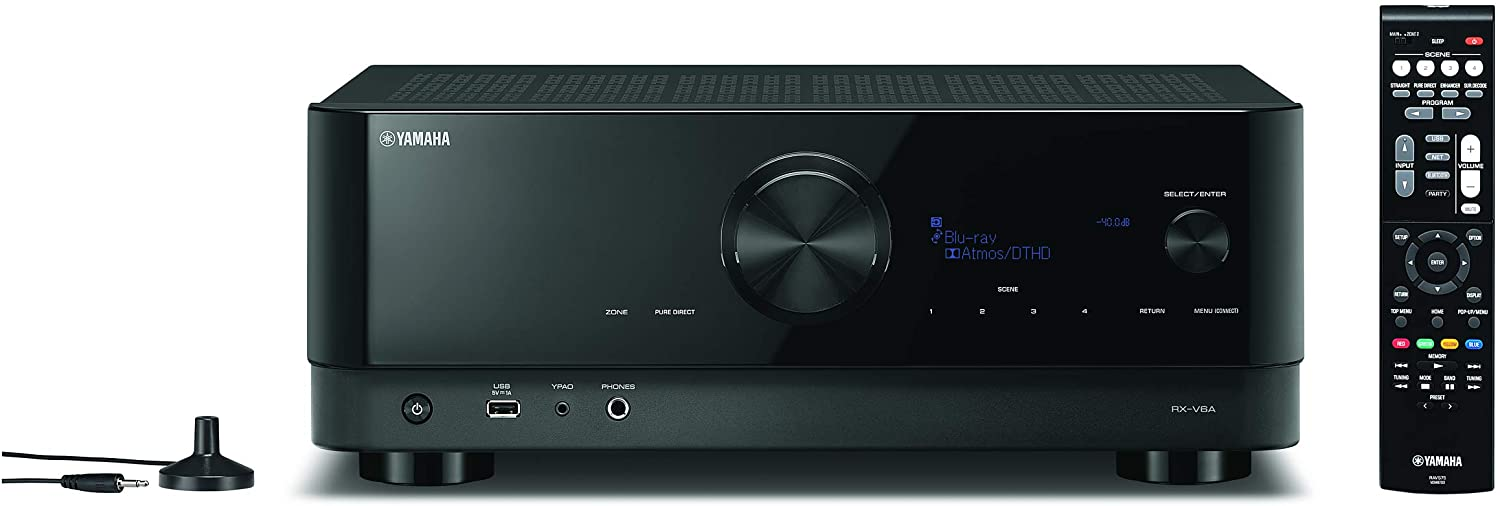 YAMAHA RX-V6A 7.2-Channel AV Receiver with Dolby Atmos and MusicCast