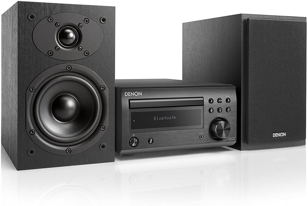 Denon D-M41DAB + SC-M41 Speakers - CD/FM Micro Desktop Stereo Amplifier System With Bluetooth®