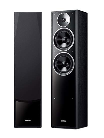 Yamaha NS-F71 Tower Speakers Pair - Black - Best Home Theatre Systems - Audiomaxx India
