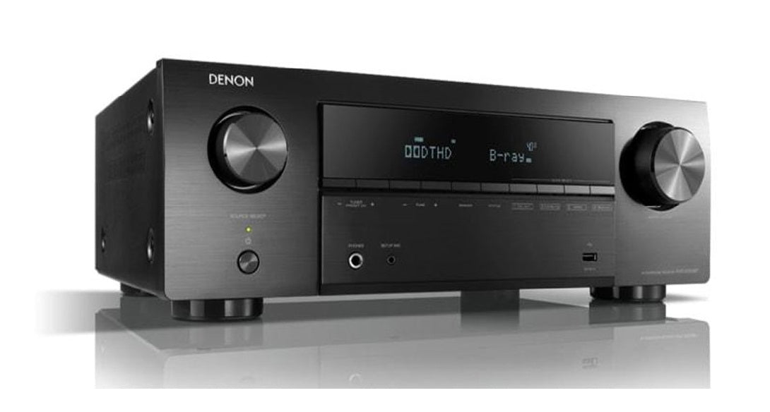 Denon AVR x550BT 5.2 Channel 130W Dolby True HD And DTS HD, 4K Ultra HD Passthrough - Best Home Theatre Systems - Audiomaxx India