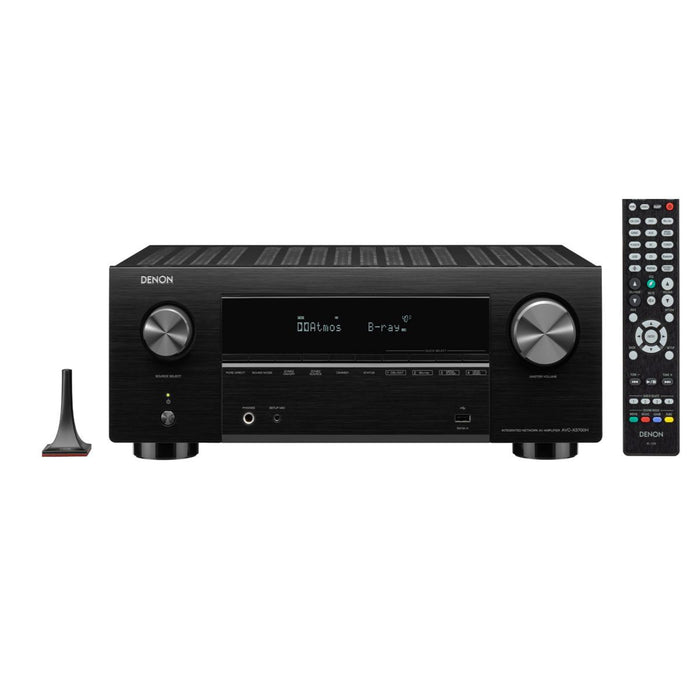 Denon AVC-X3700H 7.2ch AV Receiver with 8K HDMI WiFi 3D Audio Voice Control and HEOS Built-in
