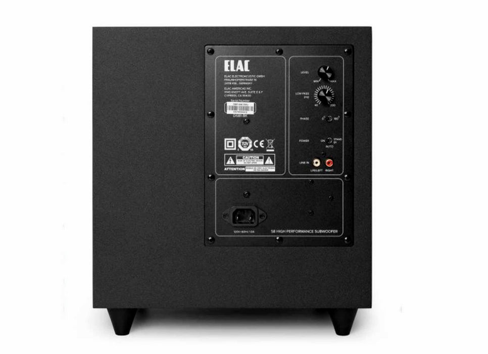 ELAC Debut S8 - Active Powered Subwoofer - Best Home Theatre Systems - Audiomaxx India
