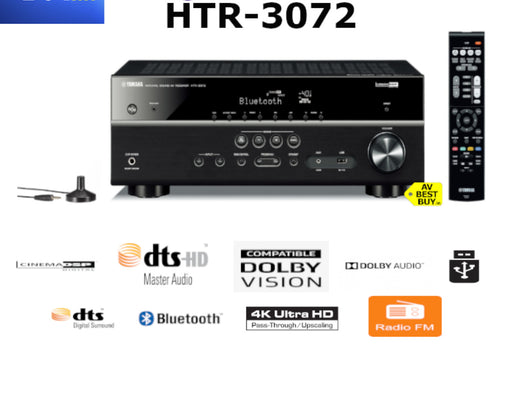 Yamaha HTR 3072 AVR 5.1 Ch. AV Receiver Bluetooth® 4K Ultra HD Audio - Best Home Theatre Systems - Audiomaxx India