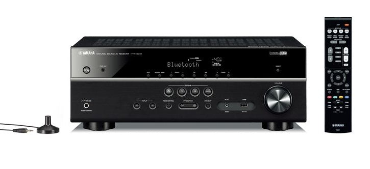 YAMAHA HTR-3072 AV Receiver 5.1 Ch. Bluetooth® 4K Ultra HD Audio - Best Home Theatre Systems - Audiomaxx India