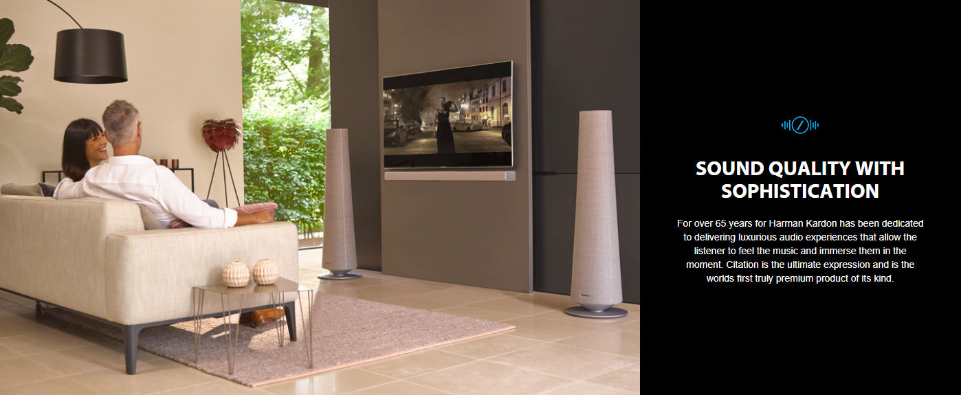 Harman Kardon Citation Towers Powered Floor-standing Stereo Speakers With Built-in Google Assistant and Chromecast