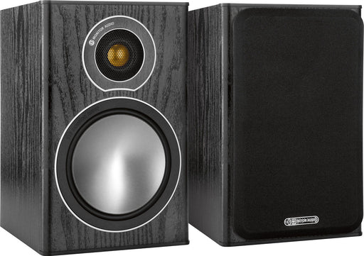 Monitor Audio Bronze1 Bookshelf Speakers Pair 70w x 2 - Black - Best Home Theatre Systems - Audiomaxx India