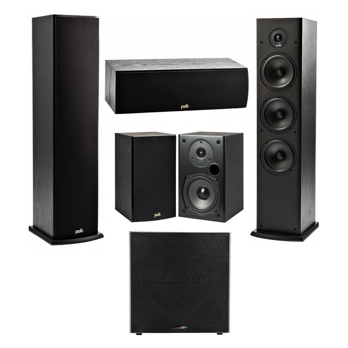Yamaha HTR-3072 Audio-Video Receiver With Polk Audio T50 Fusion Speaker Set - Dolby 5.1 Home Theater Package # AM501019 - Best Home Theatre Systems - Audiomaxx India