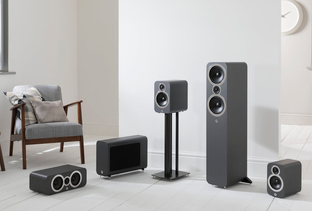 Q Acoustics Q3050i Tower Speakers Set With 3060 Subwoofer - Dolby 5.1 Surround Sound Speaker Package # SP006 - Best Home Theatre Systems - Audiomaxx India