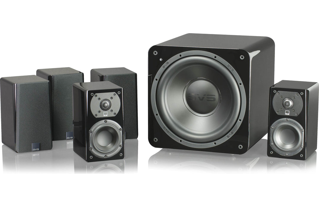 SVS Prime Satellite Speakers Set + 10 Inch / 720w SB1000 Powered Subwoofer  Black Ash  - Dolby 5.1 Surround Sound Speaker Package # SP003 - Best Home Theatre Systems - Audiomaxx India