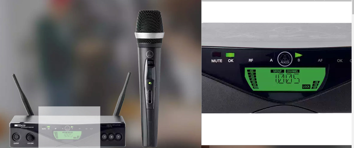 WMS470 Vocal Set D5 Professional Wireless Microphone System