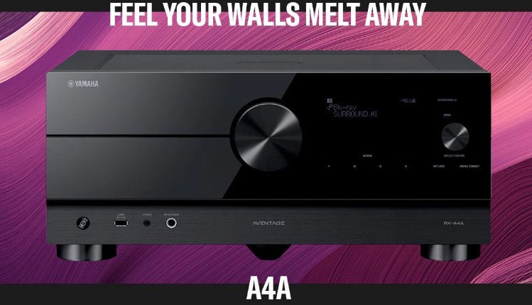 Yamaha AVENTAGE RX-A4A 7.2-Ch Home Theater Receiver With 8K Dolby Atmos®, Wi-Fi®, Bluetooth®, Apple AirPlay® 2, and Amazon Alexa Ready
