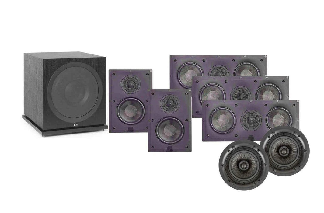 ELAC IW-D Series In-Wall And In-Ceiling -Dolby Atmos 7.1 Home Theater Surround Sound Speaker Package # SP014 - Best Home Theatre Systems - Audiomaxx India