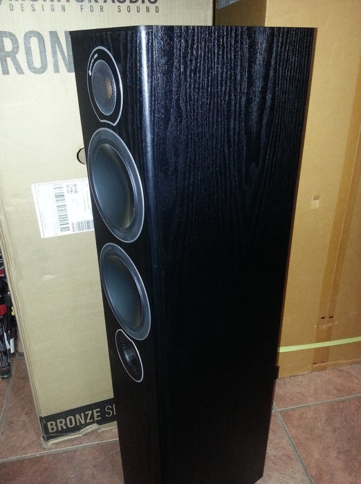 Monitor Audio Bronze5 Tower Speakers Pair  120w x 2 - Black - Best Home Theatre Systems - Audiomaxx India