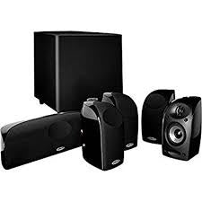 Denon X250BT Audio-Video Receiver With Polk Audio TL1600 BlackStone Satellite Speakers Set - Dolby 5.1 Home Theater Package # AM501001 - Best Home Theatre Systems - Audiomaxx India