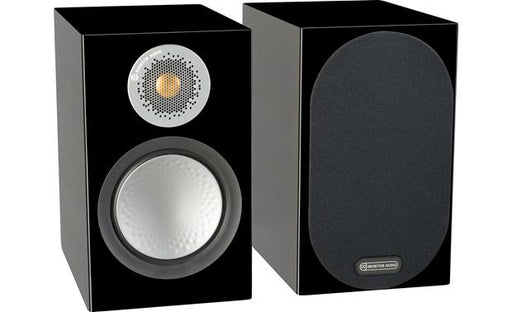 Monitor Audio Silver 50 Bookshelf Speakers Pair 100w x 2 - High Gloss Black - Best Home Theatre Systems - Audiomaxx India