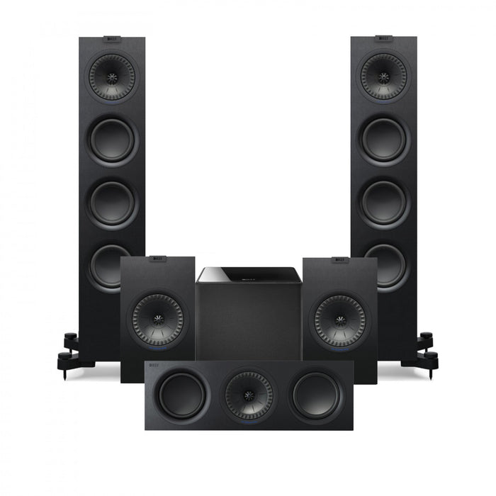 KEF Q550 Tower Speakers Set  - Dolby 5.1 Surround Sound Speaker Package # SP045 - Best Home Theatre Systems - Audiomaxx India