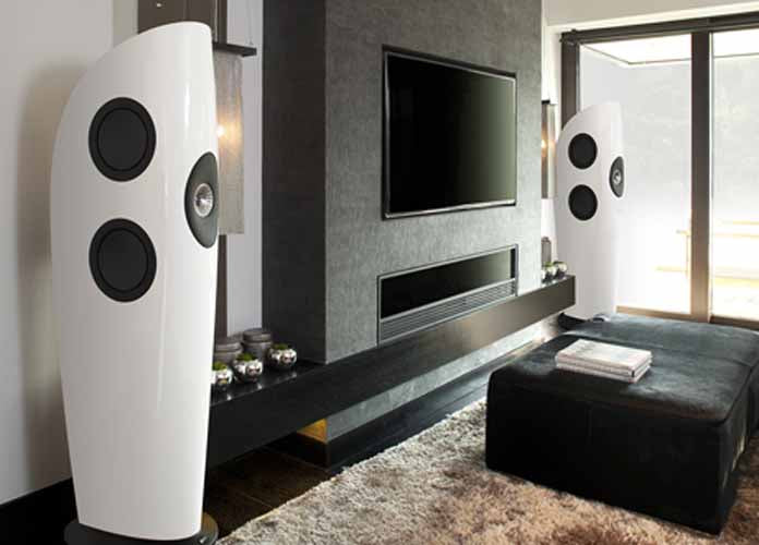 KEF Blade Tower Speaker Pair  Color Option : White OR Black - Best Home Theatre Systems - Audiomaxx India