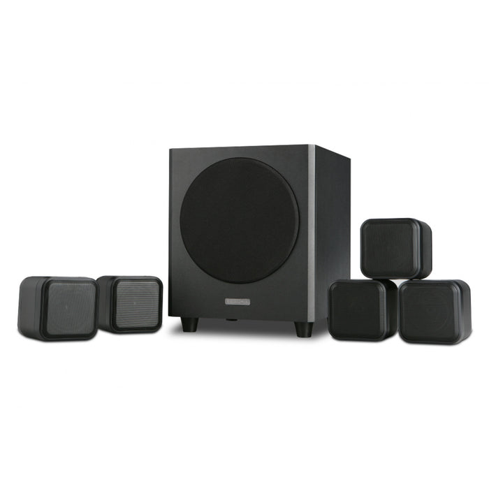 MISSION M-CUBE (SE) Satellite / OnWall Speakeer Set  - Dolby 5.1 Surround Sound  Latest Version Speakers Package # SP009 - Best Home Theatre Systems - Audiomaxx India