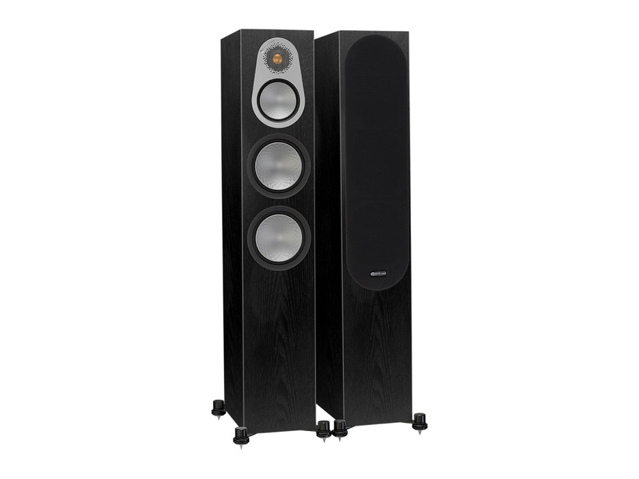 Monitor Audio Silver 300 Tower Speaker Pair 200w x 2 - High Gloss Black - Best Home Theatre Systems - Audiomaxx India
