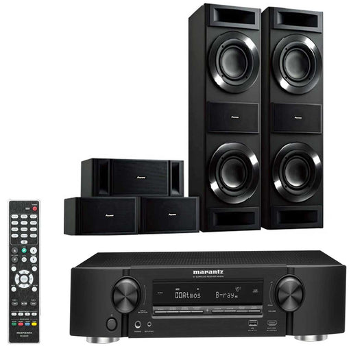 Marantz AVR NR1509 With Pioneer S-RS88TB Speakers Set - Dolby 5.0 Home Theater Package # AM500007 - Best Home Theatre Systems - Audiomaxx India