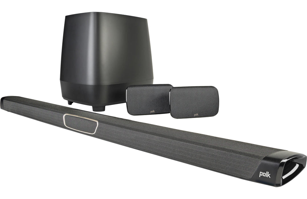 Polk Audio MagniFi MAX SR Powered SoundBar With Google Chromecast Built-in Audio, And Wireless Surround Speakers - Best Home Theatre Systems - Audiomaxx India