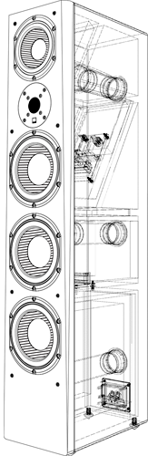 SVS Prime Pinnacle Tower Speakers 3Way - 300w x 2 Dynanmic Power  - Pair - Best Home Theatre Systems - Audiomaxx India