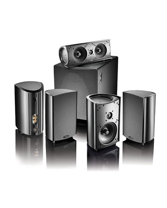 Definitive Technology ProCinema 1000  Satellite / OnWall Speakers With 10 Inch ProSub 1000 Powered  Subwoofer - Dolby 5.1  Speaker Package # SP013 - Best Home Theatre Systems - Audiomaxx India