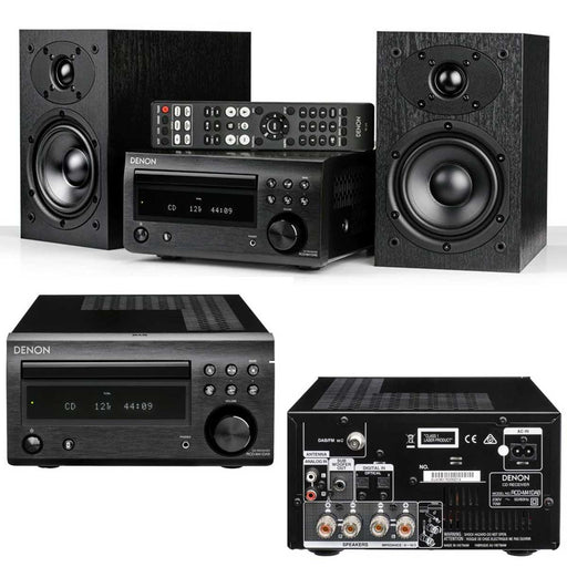 Denon D-M41DAB + SC-M41 Speakers - CD/FM Micro Desktop Stereo Amplifier System With Bluetooth®-2.0 Stereo Music System # AM200060 - Best Home Theatre Systems - Audiomaxx India