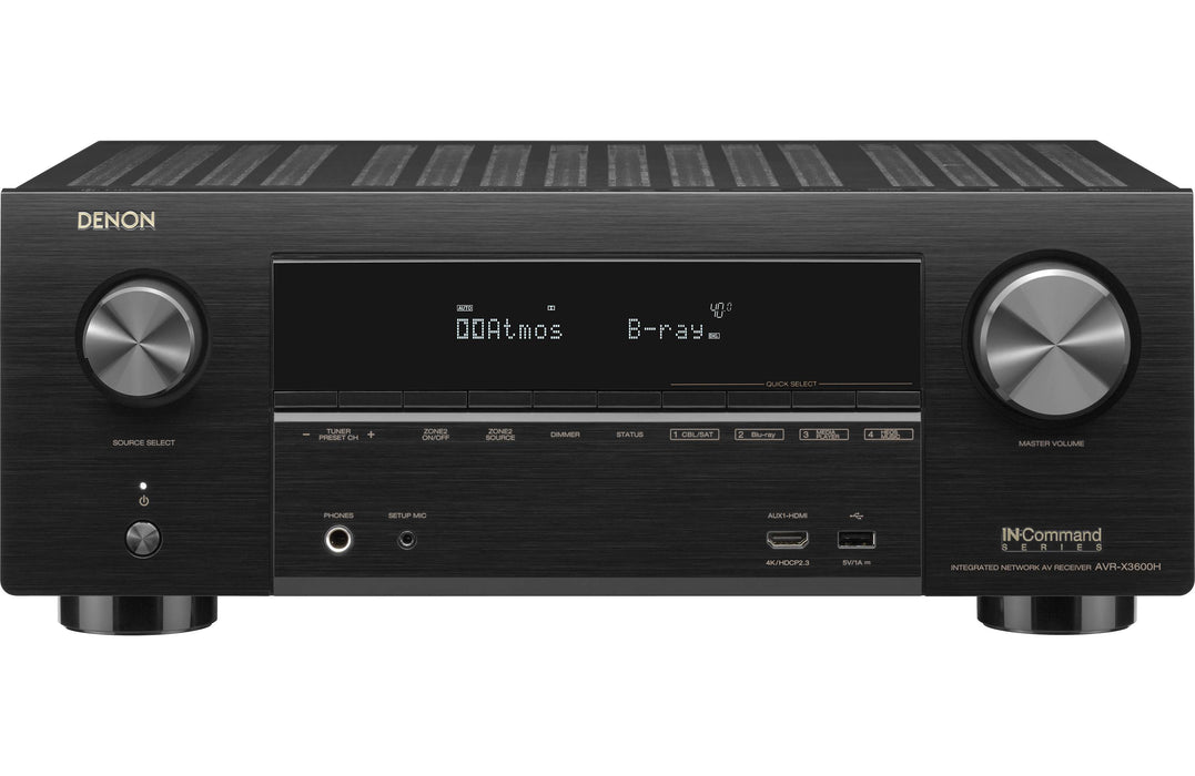 Denon X3600H Audio-Video Receiver With KEF Q950 Towers Speakers Set - Dolby 5.1 Ch  Home Theater Package # AM501039 - Best Home Theatre Systems - Audiomaxx India