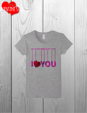 I Heart You / I Love You / Valentines Day Tee /