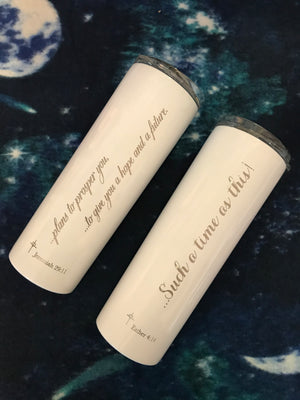 "Engraved Stainless Insulated Tumbler  |  ""A Hope and a Future"" Jeremiah 29:11"