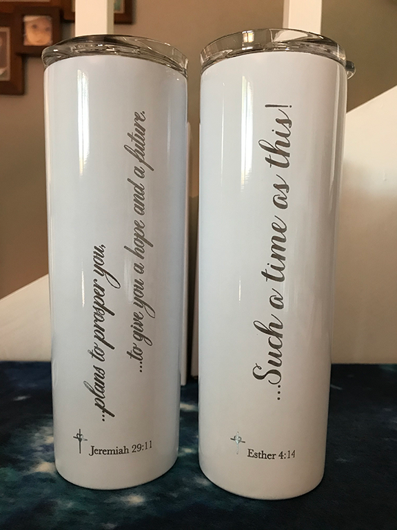 "Engraved Stainless Insulated Tumbler  |  ""For Such a Time as This"" Esther 4:14"