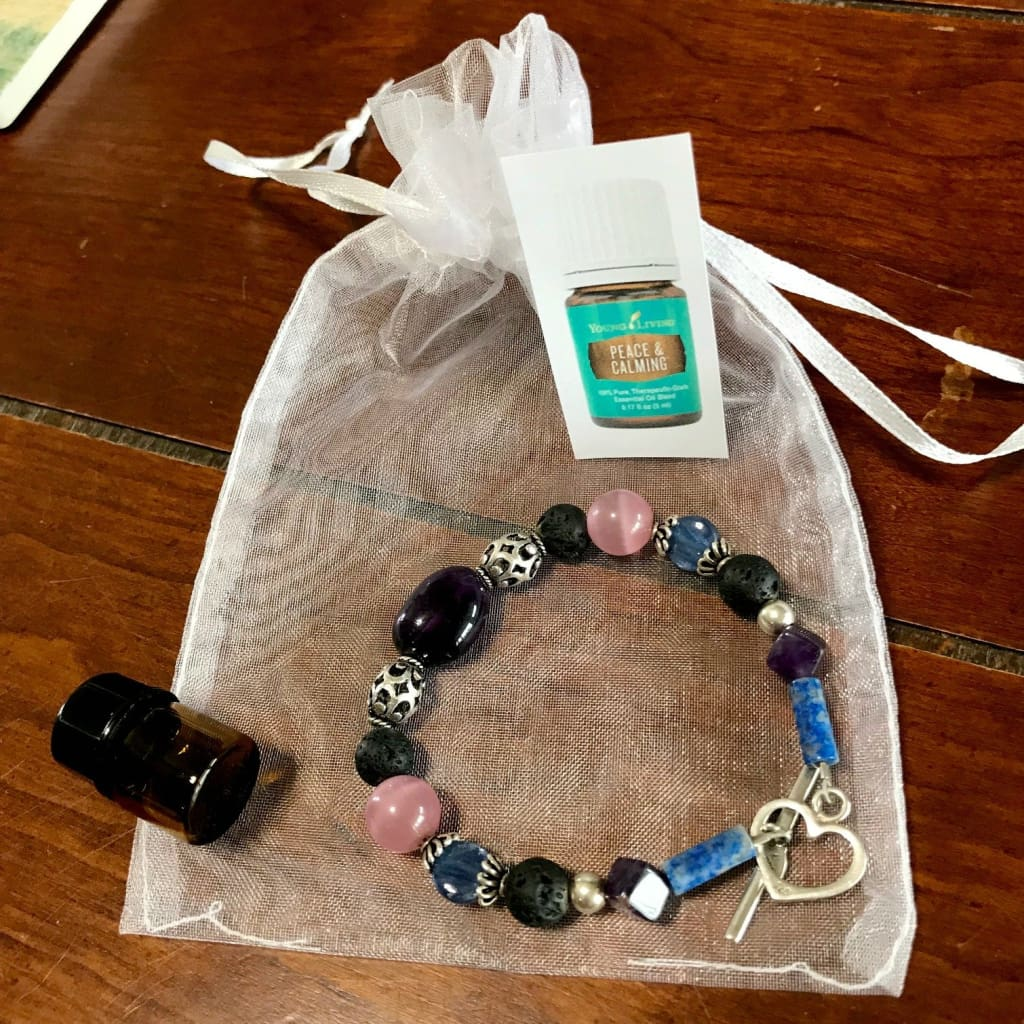 Diffuser Bracelet For Essential Oils - Semi-Precious Stones Sterling Silver