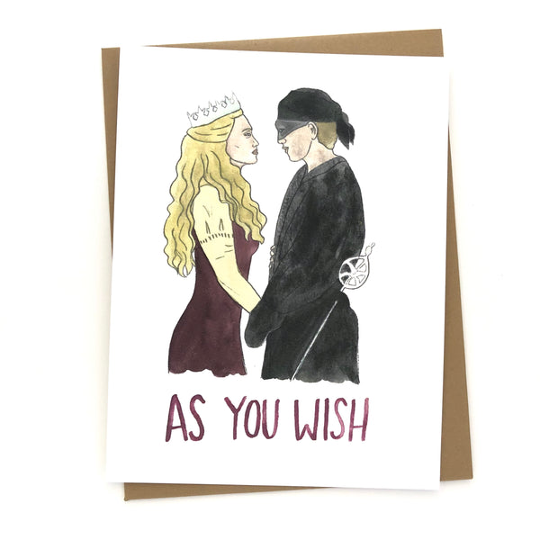 The Princess Bride Card // As you wish