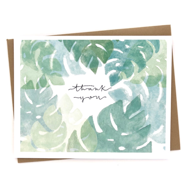Palm Leaves Thank You Cards // Set of 10