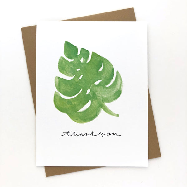Monstera Palm Thank You Cards // Set of 10